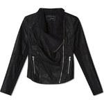 Tally Weijl Black Leather Biker Jacket with Zip Detail