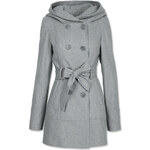 Tally Weijl Grey Wool Trench Coat with Hood