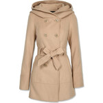 Tally Weijl Beige Wool Trench Coat with Hood