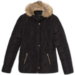 Tally Weijl Black Padded Parka Coat with Faux Fur