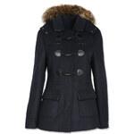 Tally Weijl Navy Duffle Coat with Fur Trim Hood
