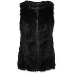 Tally Weijl Black Faux Fur Gilet Jacket