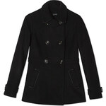 Tally Weijl Black 6-Button Trench Coat