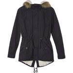 Tally Weijl Blue Shorter Length Parka Coat