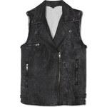Tally Weijl Black Denim Jacket with Shearling