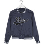 "Tally Weijl Blue ""Paris"" Baseball Bomber Jacket"
