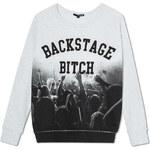 "Tally Weijl White ""Backstage"" Print Sweater"