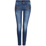 Tally Weijl Blue Push Up Skinny Jeans with Zip Detail