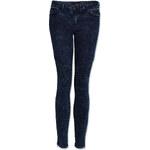 Tally Weijl Blue Acid-Wash Biker Jeans
