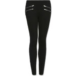 Tally Weijl Black Leggings with Zip Detail