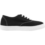 Tally Weijl Black Flat Plimsolls with White Sole