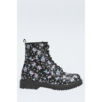Tally Weijl Black Floral Lace-Up Boots