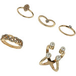 Tally Weijl Gold Multiple Ring Set