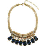 Tally Weijl Gold Chunky Necklace with Blue Stones