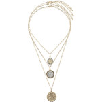 "Tally Weijl Gold ""Coin"" 3-Row Necklace"