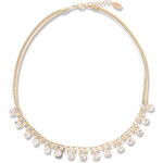 Tally Weijl Gold Short Necklace with Rhinestones
