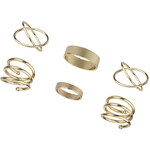 Tally Weijl Gold Ring 6-Pack