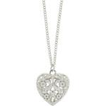 "Tally Weijl Silver ""Heart"" Long Necklace"