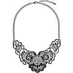 Tally Weijl Black Floral Short Necklace