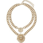 "Tally Weijl Gold ""Lion"" Embellished Chunky Necklace"