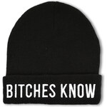 "Tally Weijl Black ""B*tches Know"" Knitted Beanie"