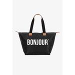 """Tally Weijl Black """"Bonjour"""" Shopper Bag"""