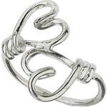 "Tally Weijl Silver ""Heart"" Ring - Size M"