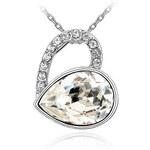 I-Moda Krásný náhrdelník ve tvaru srdce