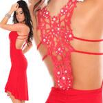 Queen O.F. Červené latino šaty S/M