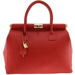 Dámská červená kufříková kabelka se zámečkem Florence Bags