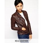 Muubaa Sirius Leather Biker Jacket - Brown