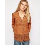 7 For All Mankind Printed Shirt - Brown