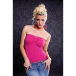 Fashion H. Růžový dívčí top Uni(S-L)