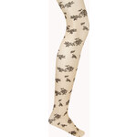 FOREVER21 Dainty Rose Sheer Tights