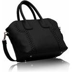 L&S Fashion (Anglie) Kabelka LS0094 černá