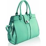 L&S Fashion (Anglie) Kabelka LS0058 zelená