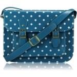 L&S Fashion (Anglie) Kabelka LS0087 modrá