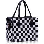 L&S Fashion (Anglie) Kabelka LS0015 černobílá