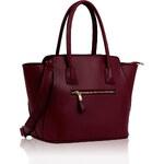 L&S Fashion (Anglie) Kabelka LS00117 červená (burgundy)