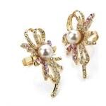My Astre Zlatý květinový prsten