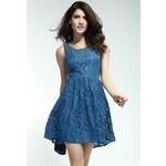 DAMSON Modré koktejlové šaty S/M
