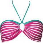 CHIC by CHANGE Dvojdílné plavky CHIC Dots&Stripes Pink - horní díl bandeau XS