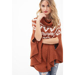 LOVE21 Cowl Neck Poncho Sweater