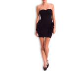 Davity Paris -50% Dámské elegantní černé šaty na prsa