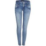 Tally Weijl Blue 3-Button Low Waist Skinny Jeans