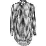 Topshop **Long Sleeve Check Print Blouse by Rare