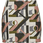 Topshop Glitter Jacquard Pelmet Skirt