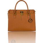 Glamorous by Glam GbyG kožená kabelka oranžová coyo