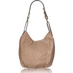 Glamorous by Glam GbyG kožená kabelka světle béžová
