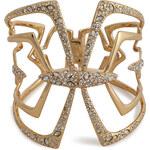 Alexis Bittar Kinetic Crystal Encrusted Mirrored Hinged Bracelet